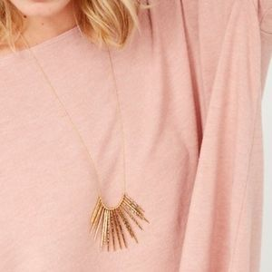 Kari Fringe Necklace-Gold